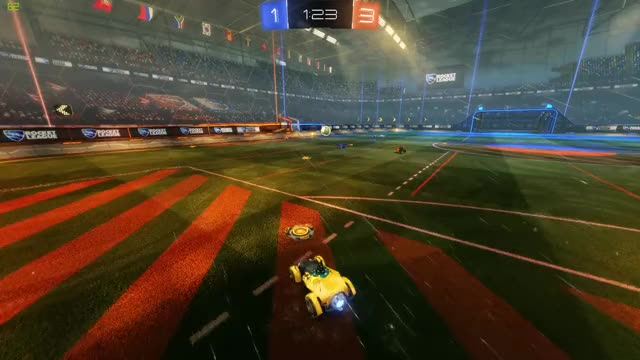 Watch and share A Very Nerve Wracking Save In Rocket League! GIFs by just_a_teacup on Gfycat