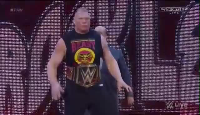 Watch #BrockLesnar Brock Lesnar WWE World Heavyweight Champion Entrance : Raw,2015 GIF on Gfycat. Discover more related GIFs on Gfycat
