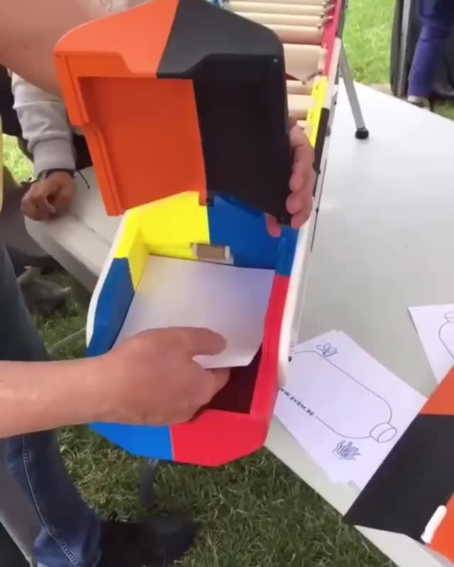 Automatic paper plane gun GIFs
