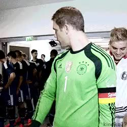 Watch Football GIF on Gfycat. Discover more believe, christonuel, christoph kramer, cute, dfb, gerarg, love, manuel neuer, neumer GIFs on Gfycat