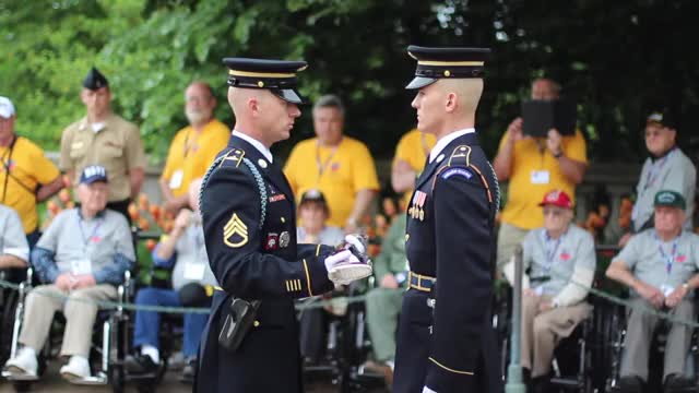 Watch and share Guard Commander Inspection - Arlington National Cemetery GIFs by meskal on Gfycat