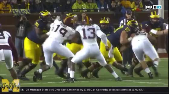 Watch Higdon Touchdown #1 Replay GIF by MGoBlog (@mgoblog) on Gfycat. Discover more 2017, Football, Karan Higdon, Michigan, Minnesota, Touchdown GIFs on Gfycat