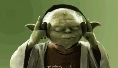 Watch and share Yoda Headphones GIFs on Gfycat