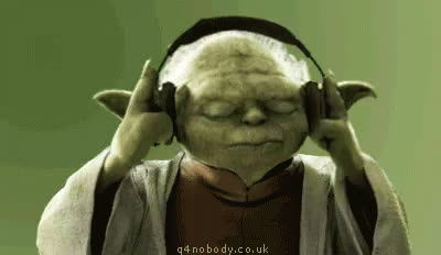Yoda Headphones GIFs