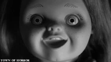 Watch and share Black And White GIFs and Curse Of Chucky GIFs on Gfycat