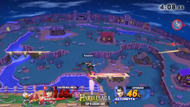 Hyrule Saga - Echo Fox MVG | MKLeo (Marth) Vs. CaptainZack (Bayonetta) Top 8 Losers Side - Smash 4