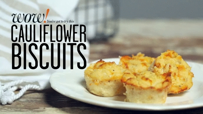 GifRecipes, GifRecipesKeto, Cheesy Cauliflower Biscuits (reddit) GIFs
