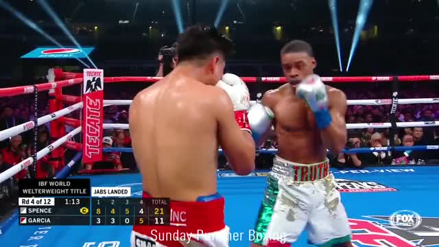 Watch Errol Spence Jr. leans-in to land a left around Mikey Garcia guard, then dips-down to avoid the counter GIF by Tom_Cody (@tomcody) on Gfycat. Discover more boxing GIFs on Gfycat