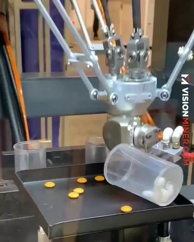 Delta robot sorting M&M's... GIFs