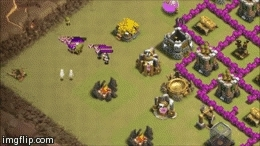 clashofclans, [Strategy] Taking out cc troops with Balloons! (Sorry for poor quality, more info inside) (reddit) GIFs