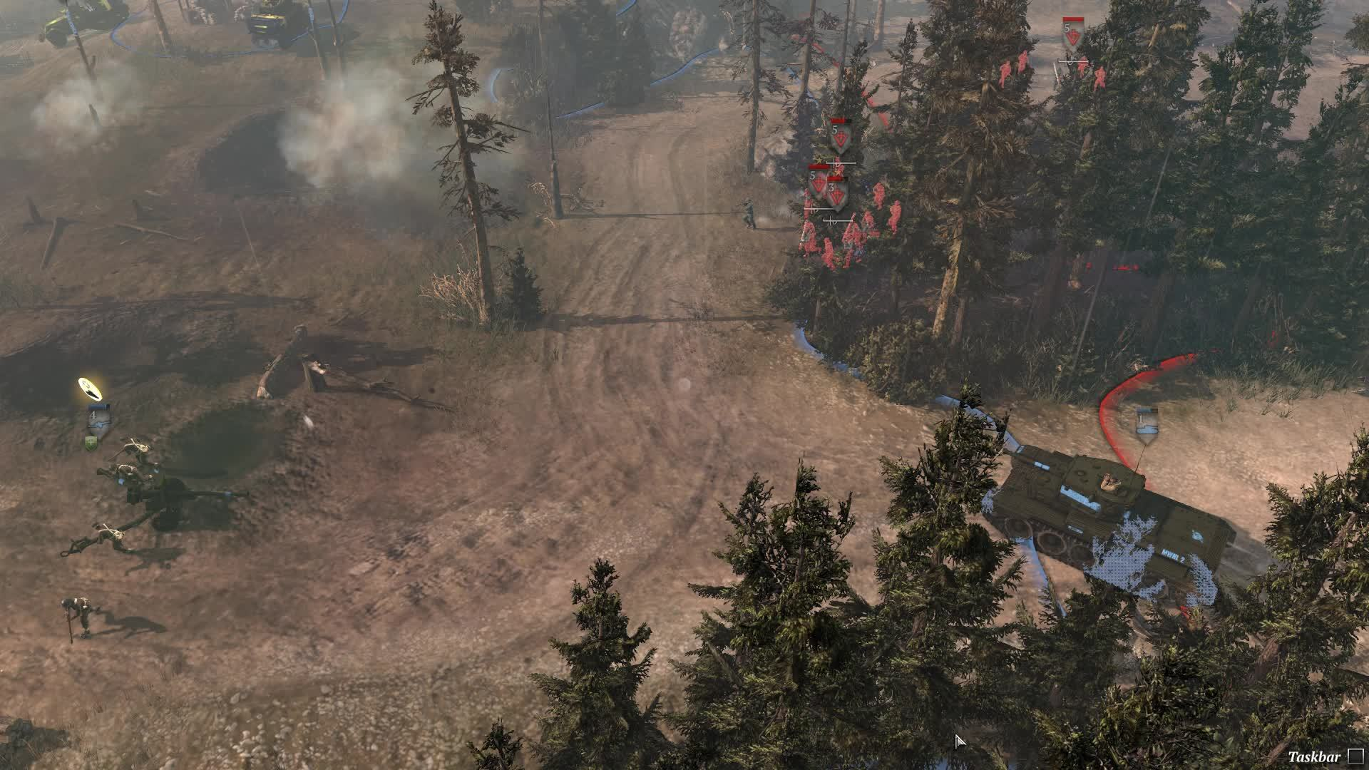 companyofheroes, Crushing through the forest GIFs
