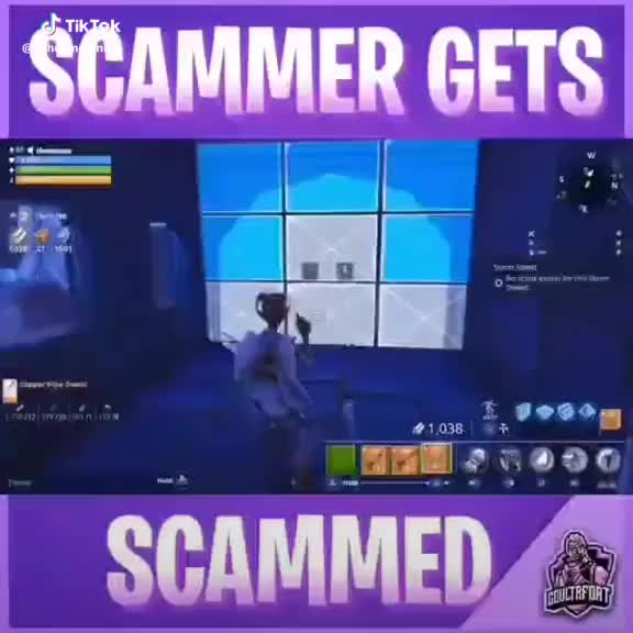 Watch Scammer gets scammed! #fortnite #battleroyale #fortnitebr #fortnitebattleroyale #fortnitegame GIF by wholemasterpiece6 on Gfycat. Discover more battleroyale, fortnite, fortnitebattleroyale, fortnitebr GIFs on Gfycat