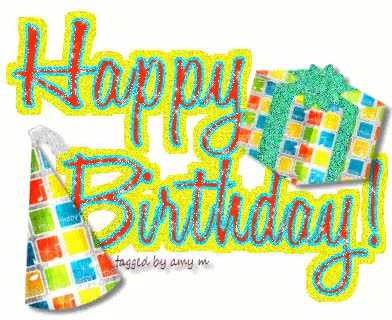 Watch and share Fee Ce Glitter Graphics The Happy Birthday Clipart GIFs on Gfycat