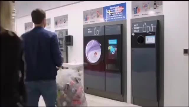 Watch and share This Return It System In Sweden Automatically Sorts Your Plastics, Glass And Misc Containers For Recycling And Then Pays You With A Shopping GIFs by Thund3rbolt on Gfycat