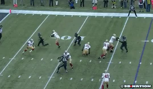 Watch and share Colin Kaepernick Misses Wide Open Anquan Boldin Gif / Gfycat GIFs on Gfycat