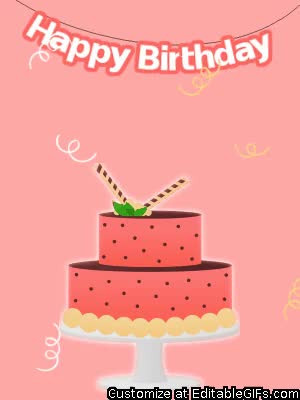 Watch and share Happy Birthday GIFs and Celebrate GIFs by Editable GIFs on Gfycat