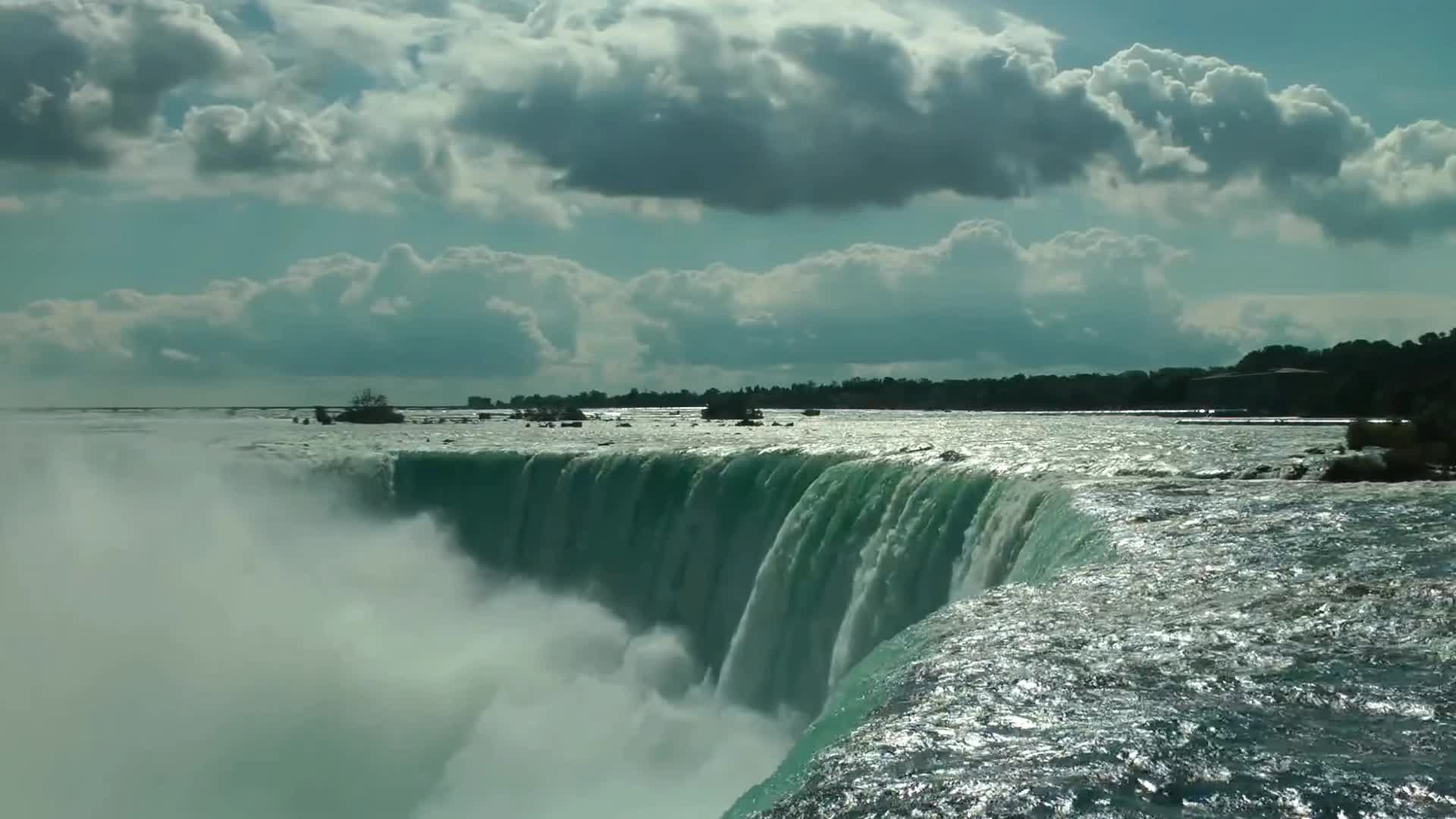NIAGARA FALLS (60fps, Short Cinematic Nature Film)-VurowmlQN GIFs