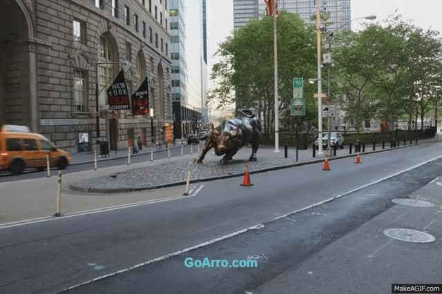 Watch and share Wall Street Charging Bull GIFs on Gfycat