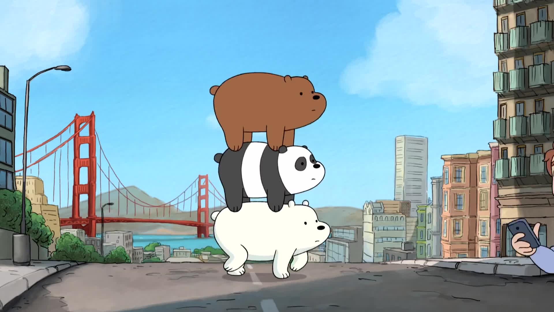 we bare bears, we bare bears - intro, we bare bears opening, We Bare Bears - Intro GIFs