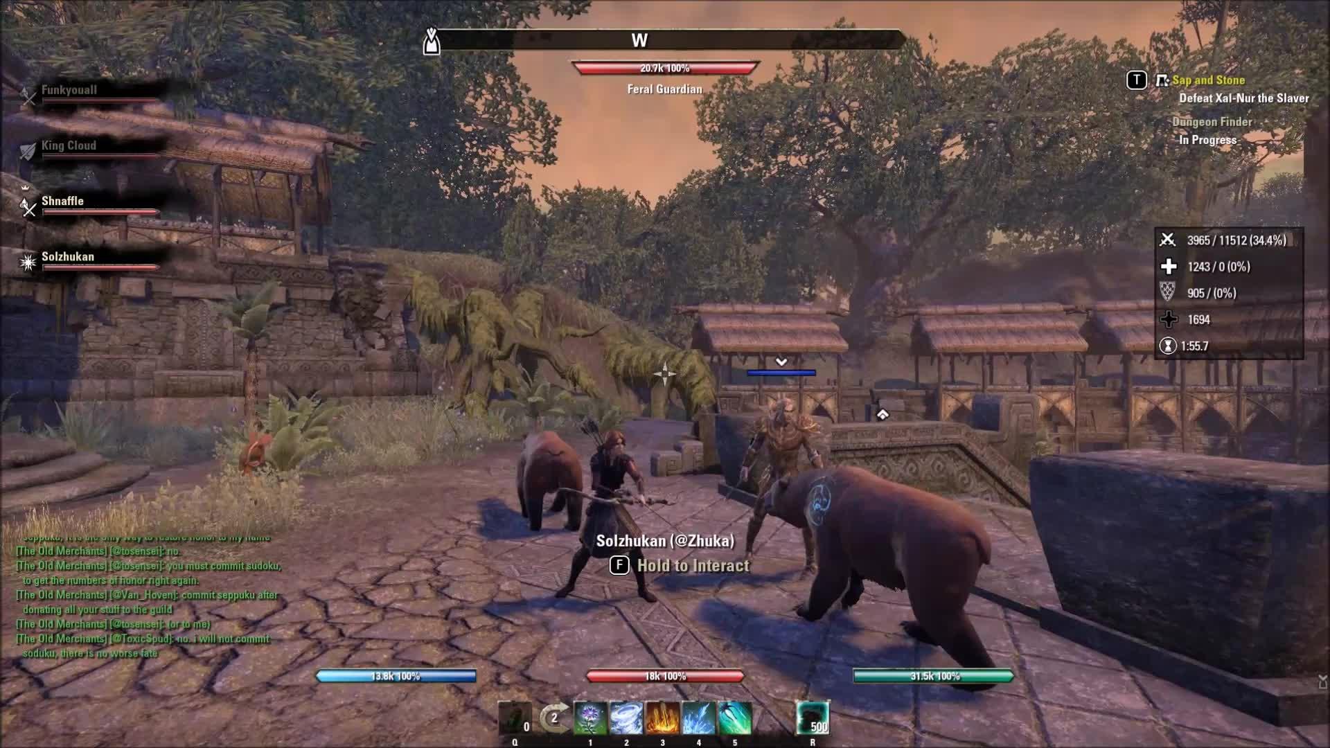 elderscrollsonline, warden, Elder Scrolls Online Morrowind Warden Bear's Lick Each Other GIFs