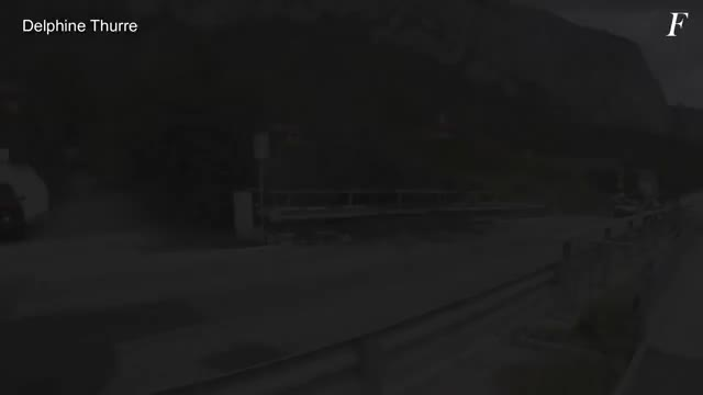 Watch Mudslide in Switzerland can't fit under a bridge GIF on Gfycat. Discover more related GIFs on Gfycat