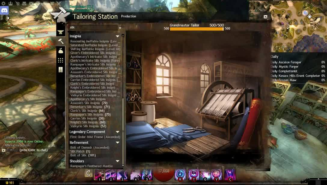 Crafting speed in guildwars2 GIFs