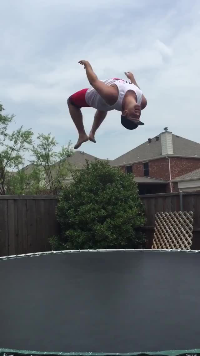 Watch and share Happy 4th Everyone. Trampoline Fail ! GIFs on Gfycat