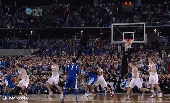 Watch and share Wiscon Wiscon ThoseThoughtfulAlpinegoat Aaron Harrison Huge 3 Pointer To Win The Game (reddit) GIFs by MarcusD on Gfycat