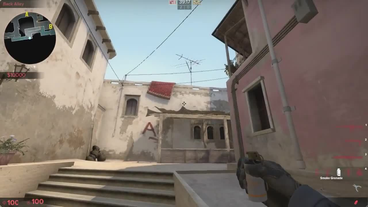GlobalOffensive, LearnCSGO, A fake smokes from B apps GIFs