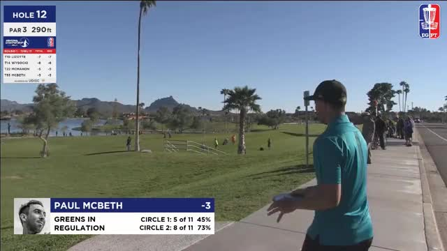 Watch 2017 Memorial - McBeth hits basket - Round 1, Hole 12 GIF by Ultiworld Disc Golf (@ultiworlddg) on Gfycat. Discover more pdga, smashboxxtv, the disc golf guy GIFs on Gfycat