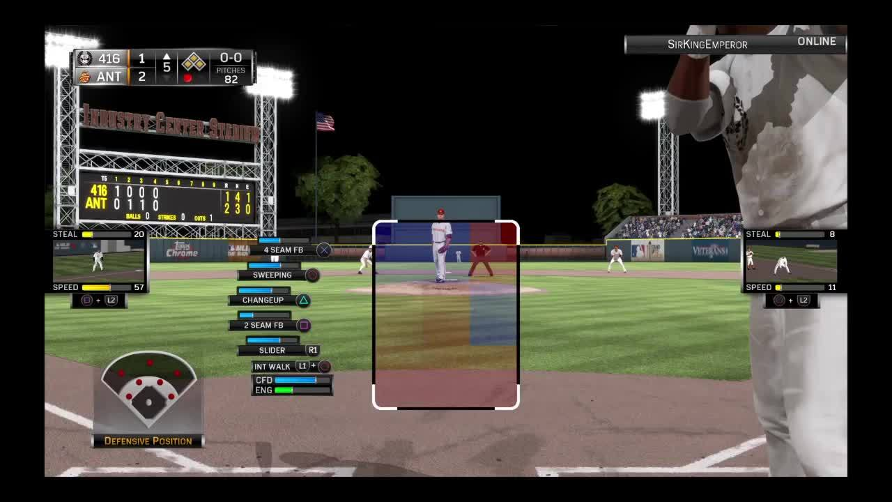 MLBTheShow, mlbtheshow, Throw home delayed GIFs
