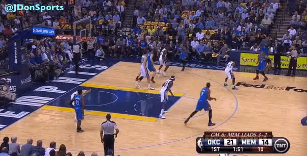 Tony Allen's defense is so good, he's got Nick Collison setting