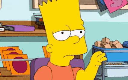 annoyed, bart, bla, blabla, bored, boring, conversation, eye, roll, simpson, talk, The Simpsons - Boring talking GIFs