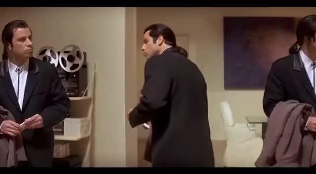 Watch and share 3 John Travolta Confusion Meme Scene Pulp Fiction - Vincent Vega X 3 GIFs on Gfycat