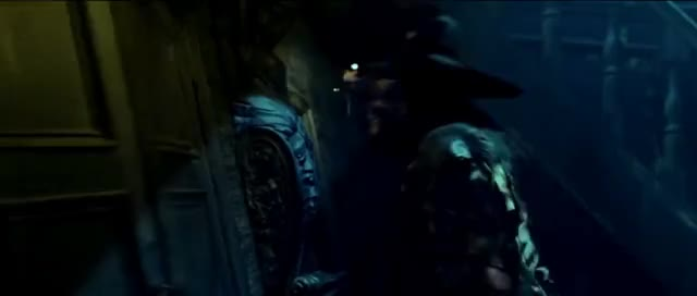 """Watch POTC 1 - Barbossa """"Better believe in ghost stories miss turner, you're in one."""" HD GIF on Gfycat. Discover more related GIFs on Gfycat"""