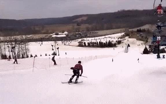 Watch and share Highfive GIFs and Skiing GIFs by Elaine Cheng on Gfycat