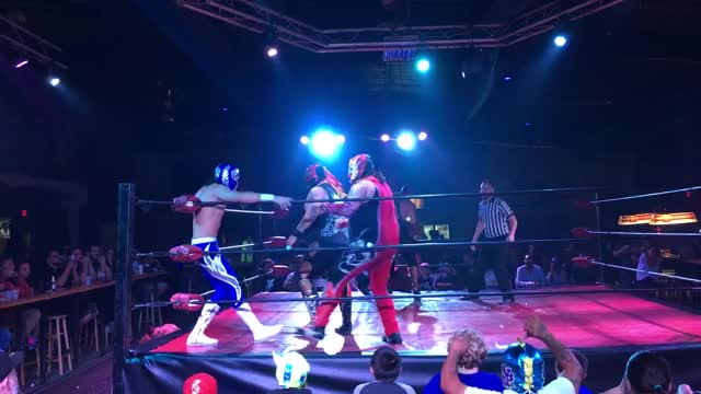 Watch Action GIF by Blaze Inferno (@metaknightxprophets) on Gfycat. Discover more Chimaera, Luchadores, Ricardo Rodriguez, Wrestling, cmll, mexican wrestling, mexico GIFs on Gfycat