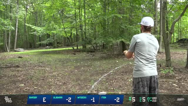 Watch 2018 Delaware Disc Golf Challenge | R1, F9, MPO | Gregg Barsby hole 5 approach GIF by Benn Wineka UWDG (@bennwineka) on Gfycat. Discover more Jomez Productions, Sports GIFs on Gfycat