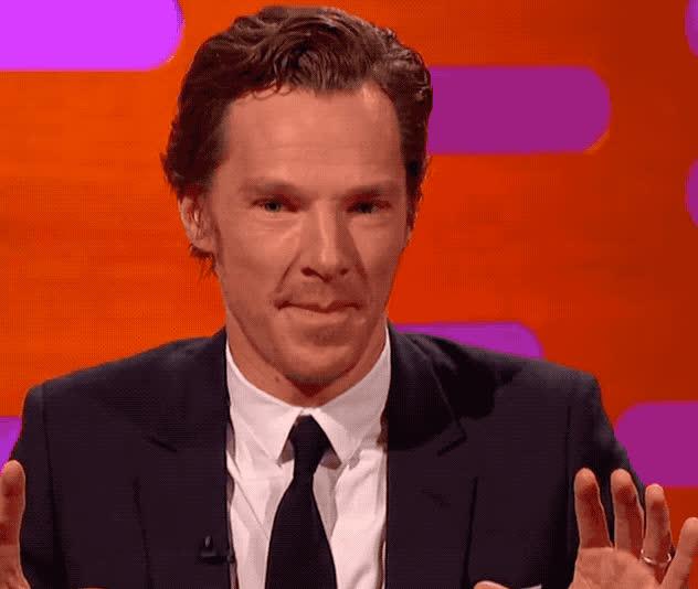 benedict, celebs, cumberbatch, dumb, epic, funny, graham, hilarious, idiot, immitate, joke, joking, lol, norton, out, show, silly, stupid, tongue, trending, Dumb Benedict GIFs