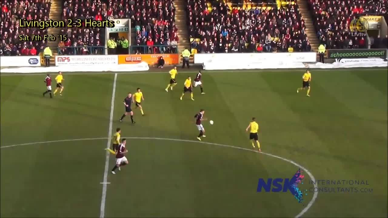 soccer, wince, Livingston - Hearts brutal foul of Jason Talbot and only yellow card (reddit) GIFs