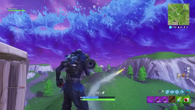 watch first time rocket riding myself with the guided missle gif on gfycat discover more - rocket riding in fortnite