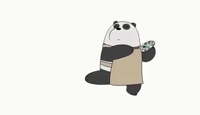 Watch and share We Bare Bears | Panda Paints | Cartoon Network GIFs on Gfycat