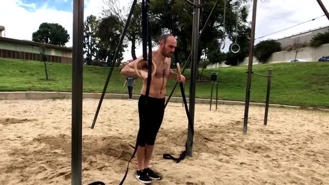Watch and share Half Rom Negative Ring Dips GIFs by Antranik.org on Gfycat