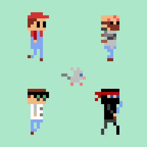 Watch and share Pixel Art Character Parade GIFs on Gfycat