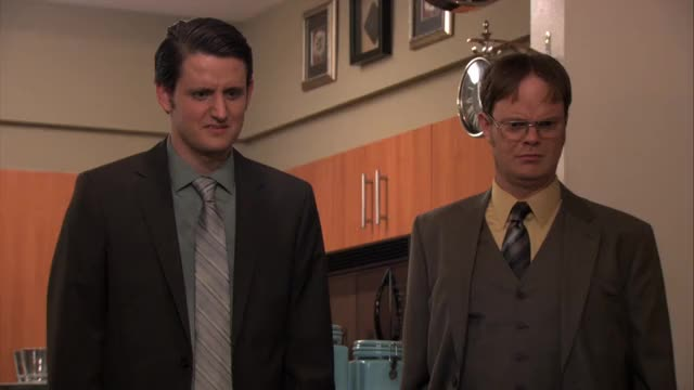 Watch and share Rainn Wilson GIFs and Zach Woods GIFs by mistersamza on Gfycat