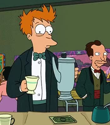 Watch and share Too Much Coffee GIFs and Philip Fry GIFs by Reactions on Gfycat