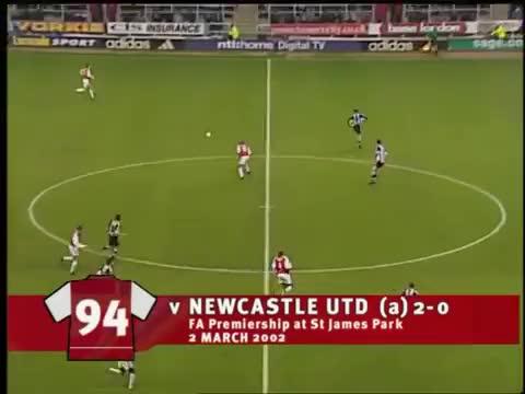Watch and share Bergkamp Vs Newcastle GIFs on Gfycat