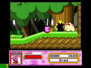 KIRBY, emulator, ninja, nintendo, plus, size, snes, star, super, zsnes, Kirby Superstar No Power Run Part 1 GIFs