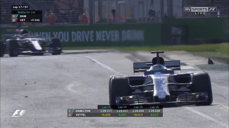 Formula1GIFS, REQUEST Hamilton looking into his mirrors coming out of turn 12 in lap 17 (reddit) GIFs