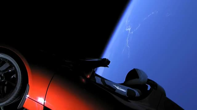 Watch Starman on board Falcon Heavy GIF on Gfycat. Discover more All Tags, Falcon, FalconHeavy, NASA, Rocket, Starman, capecanaveral, davidbowie, heavy, launch, lifeonmars, mars, space, spacex, tesla GIFs on Gfycat